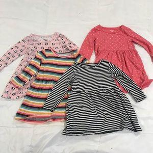 Carter's Set of 4 Dresses - Toddler Size 18M